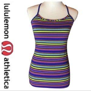 💕SALE Lululemon Multi Color Purple Stripe Power Y